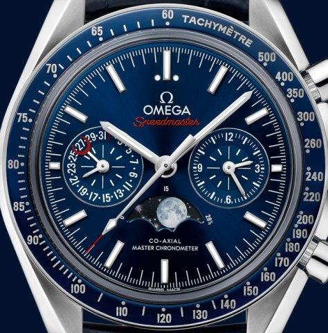 Baseworld-2016-Omega-Speedmaster-Moonphase-Chronograph-Master-Chronometer-esfera-horas-y-minutos