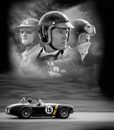 Baume-Mercier-Capeland-Shelby-Cobra-CSX2128-Dan-Gurney,-Lew-Spencer-and-Dave-MacDonald-Horasyminutos