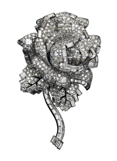 Broche rosa Cartier Londres 1938