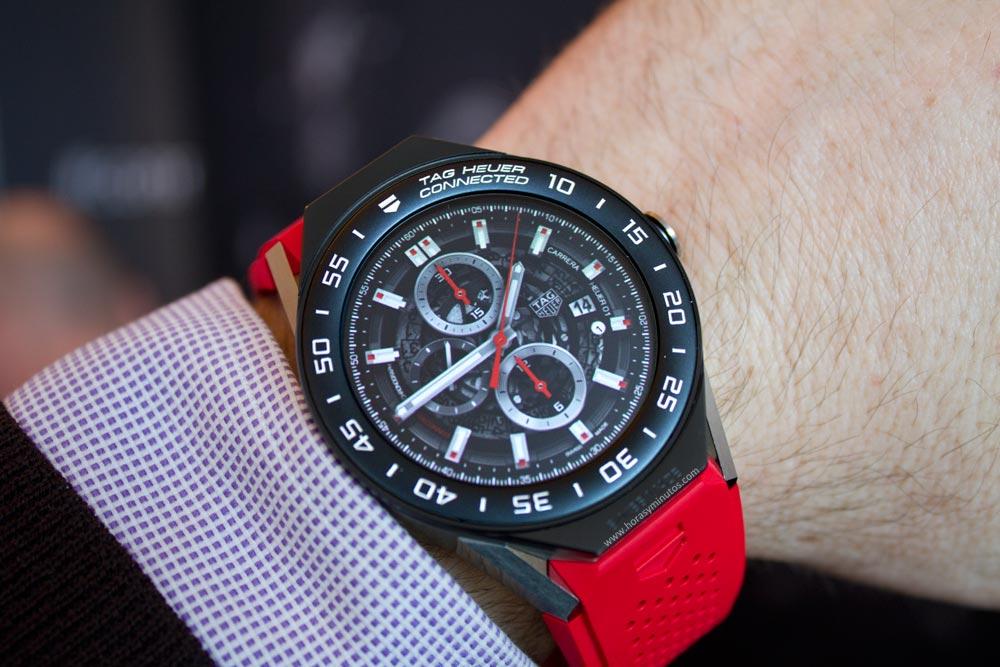 El nuevo smartwatch tag heuer connected modular 45 con fotos en vivo y precios horas y minutos for The tag heuer connected modular