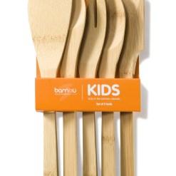 Gyerek konyhai szett biobambuszból