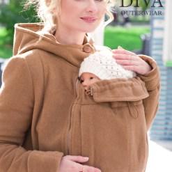 Karamello gyapjú téli kabát 4 funkcióval Diva Milano