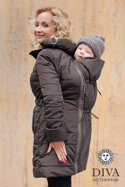 Graphite téli babahordozó kabát 4 in 1 funkcióval-Diva Milano