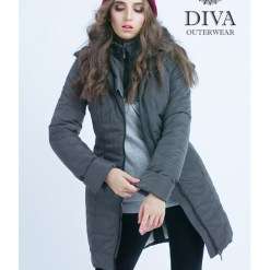 5e1c63114f Graphite téli babahordozó kabát 4 in 1 funkcióval-Diva Milano