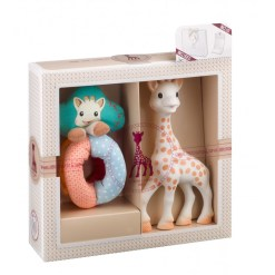 Sophiesticated ajándékszett Sophie zsiráf + textil csörgő