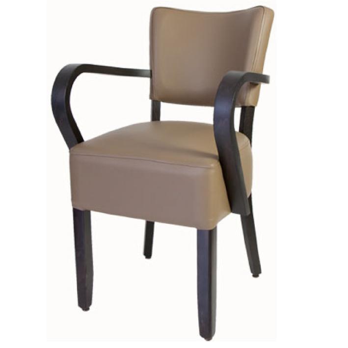 Houten stoel met armleuning  Horeca Center