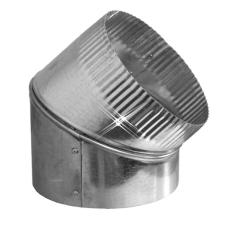 Aluminium bocht 45 graden 400 mm