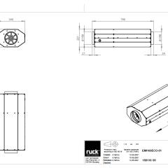 Geïsoleerde EC buisventilator 830 m3/h – (EMI 160 E2M 01)
