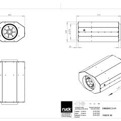 Geïsoleerde EC buisventilator 2380 m3/h – (EMI 280 EC 01)