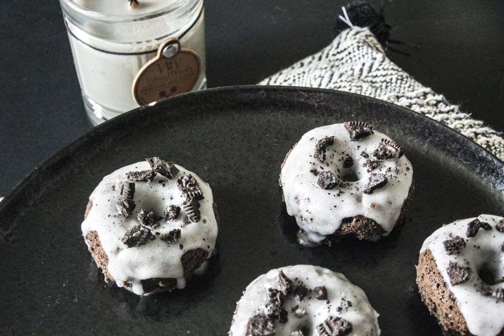 Donuts à l'Oreo au four