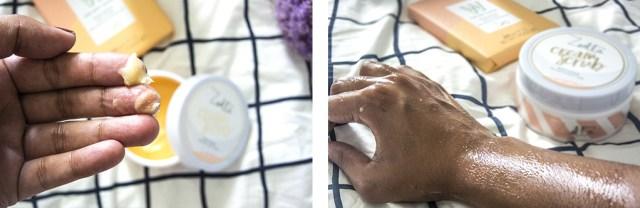 Texture du cream scrub