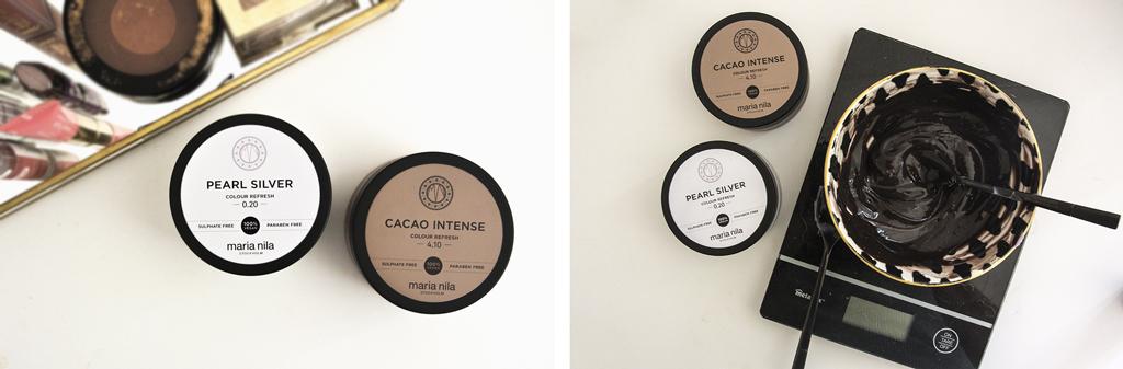 Colour refresh Maria Nila – Pearl silvet et cacao intense