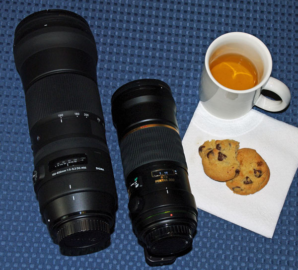 300 mm and 600 mm lenses