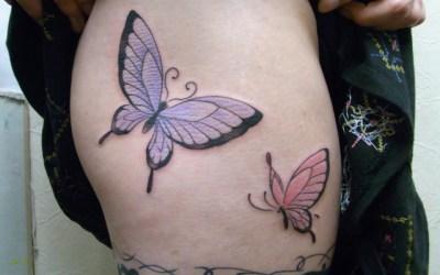 蝶のタトゥー画像