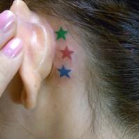 星のタトゥー画像