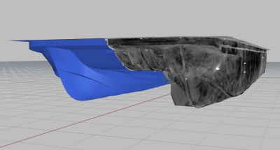 Complex catamaran hull mold surfaces from 3D scan data