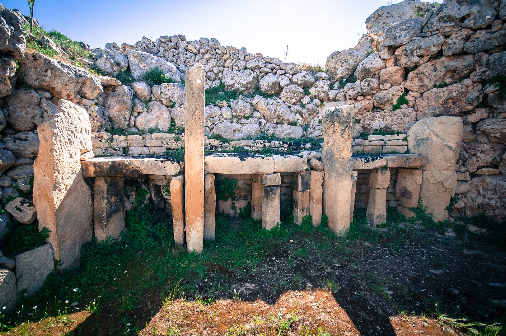 The Ġgantija temples of Malta are among the earliest free-standing buildings known. Image credit - Bs0u10e01, licensed under CC BY-SA 4.0