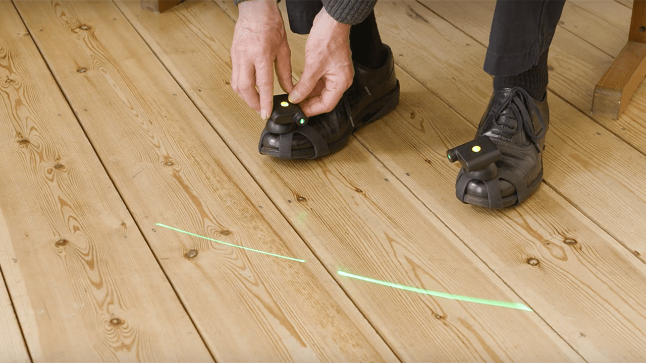 Having an external visual cue such as a line has been shown to reduce the number of freezing episodes in Parkinson's patients. Image credit - Walk With Path