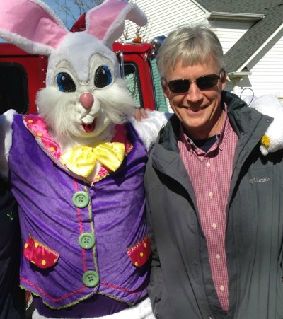 Dr Hebda and Easter Bunny