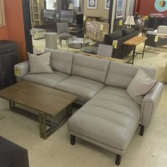 Taupe Color Leather Sofa Modern Sets Photos Ludwig Sectional With Chaise Horizon Home Furniture