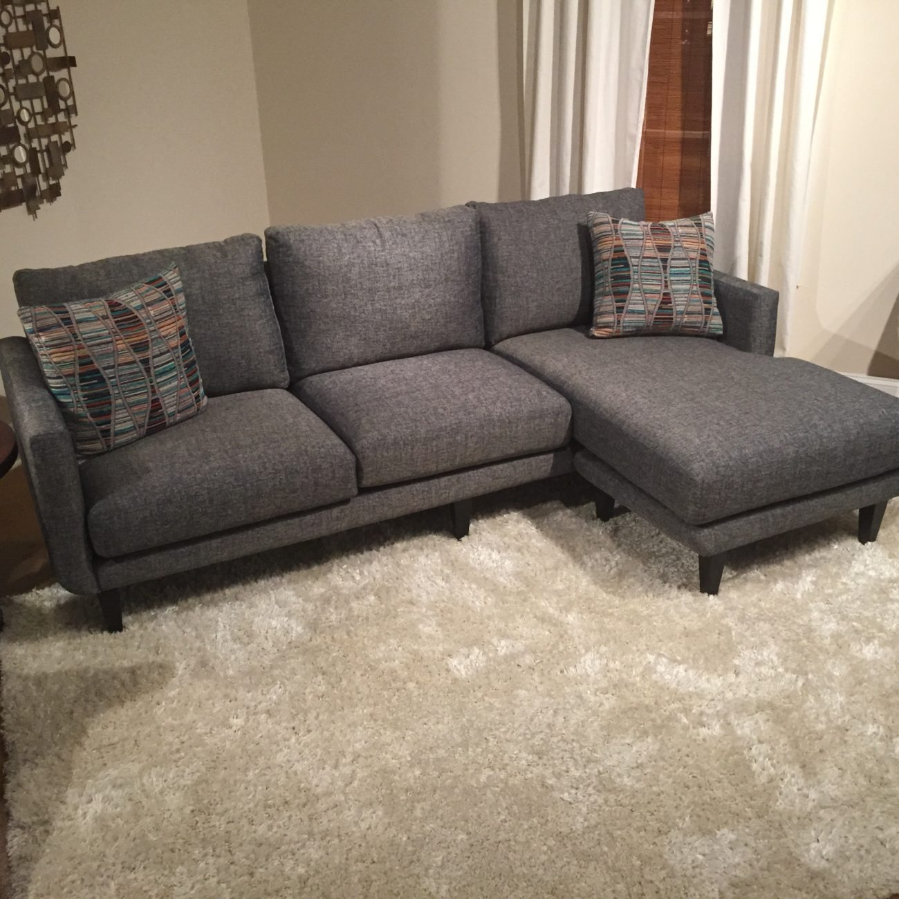 dark grey sofa styling with chair benji upholstered sectional horizon home furniture
