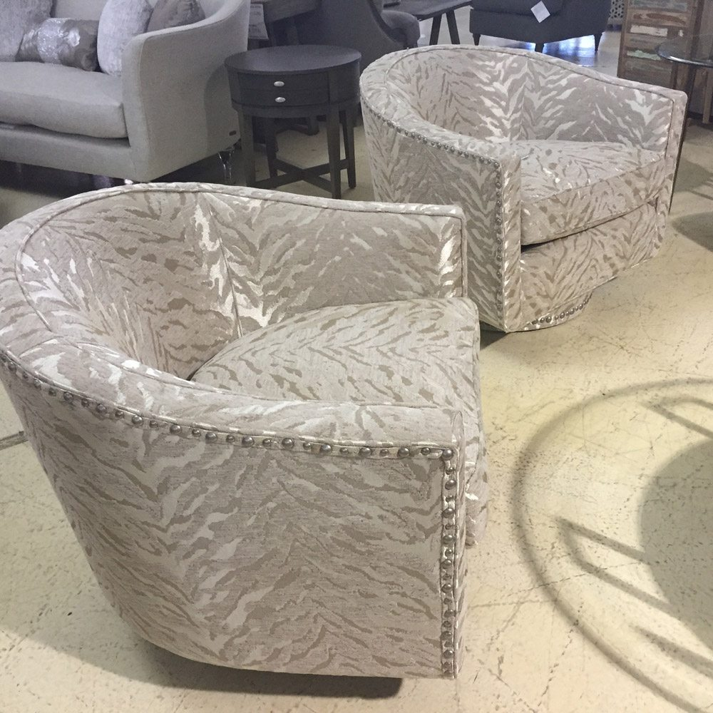 Upholstered Swivel Chairs Michael Amini Beautiful Upholstered Swivel Chairs Horizon Home