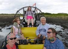 Everglades over boat