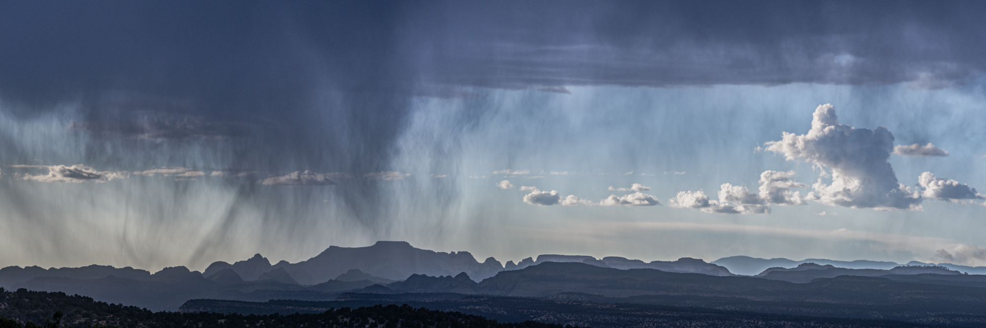 Photography workshop near Zion National Park with a monsoon storm and rain over Zion National Park.