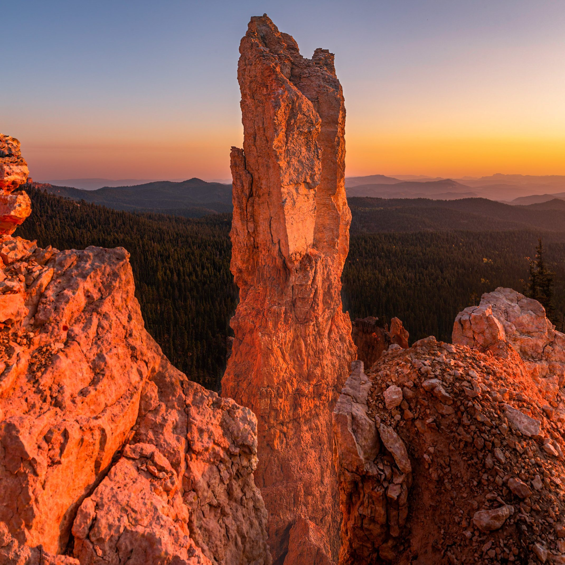 Utah Photography Workshops. A sandstone tower at sunset in Southern Utah.