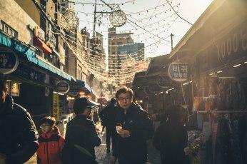 Street market in Busan.