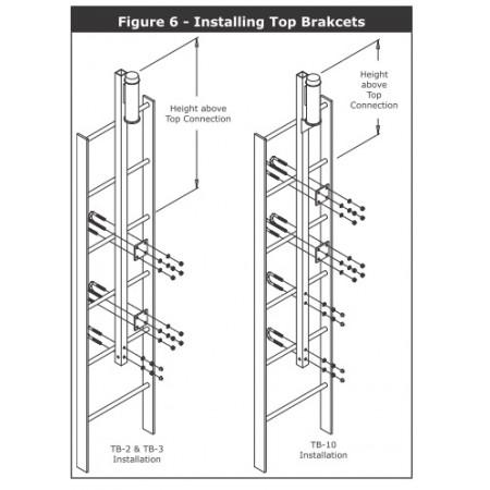 #DB.LadSaf-6100090: Bottom bracket for galvanized fixed