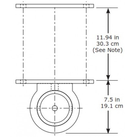 #DB.8530373: SecuraSpan clamp on vertical base stanchion