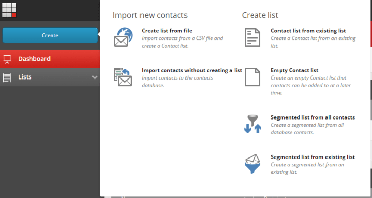List Manager Create