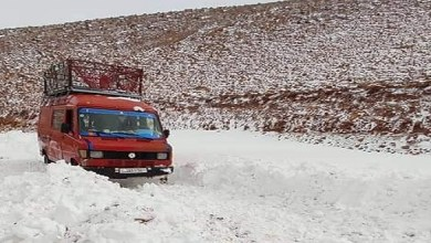 صورة بعدما غمرتها الثلوج.. إعادة فتح الطريق بين إفران وبولمان