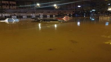 صورة عرائض واحتجاجات أمام مجلس مدينة البيضاء بسبب كوارث الفياضانات