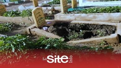 صورة الأمطار تغرق مقبرة الغفران بالدار البيضاء -فيديو