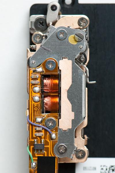 D2H shutter mechanism - face view