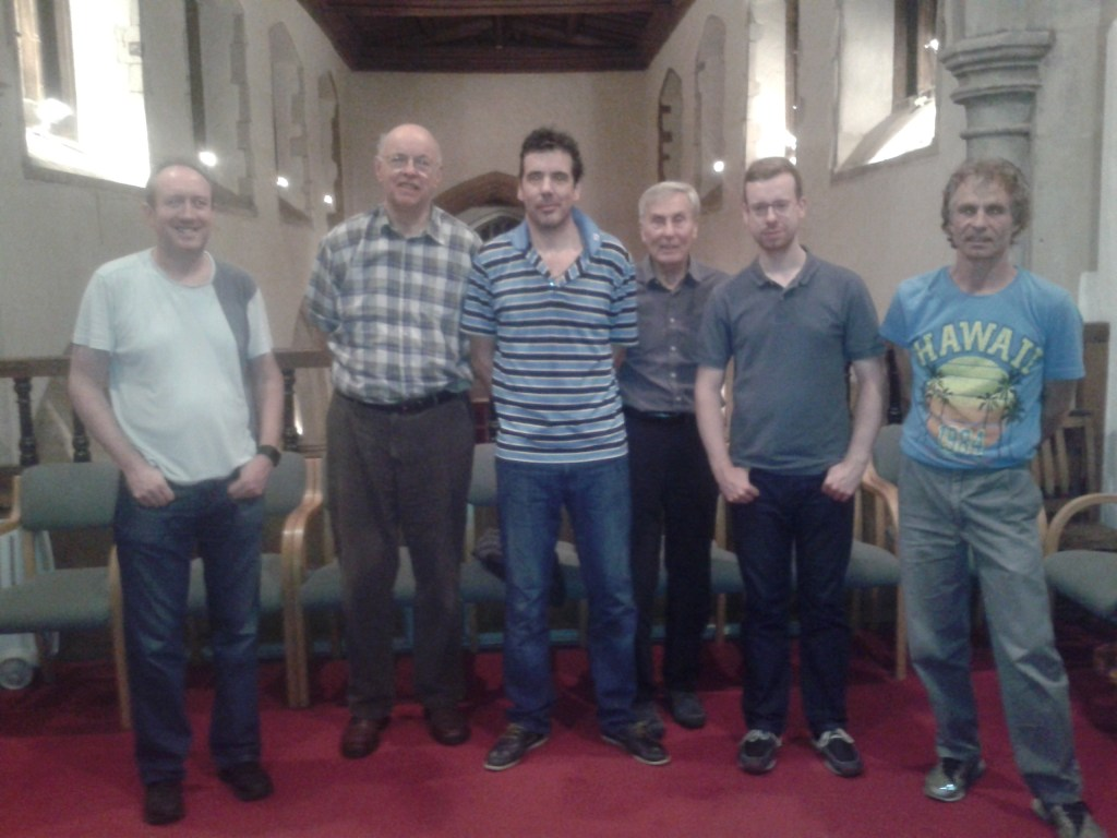 L-R: Jonathan Slack, Chris Pain, Paul Shrubsole, John Stephenson, Gavin Carpenter, Clive Stephenson