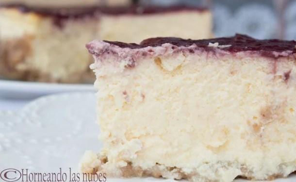 Tarta de queso ó cheesecake clásico.