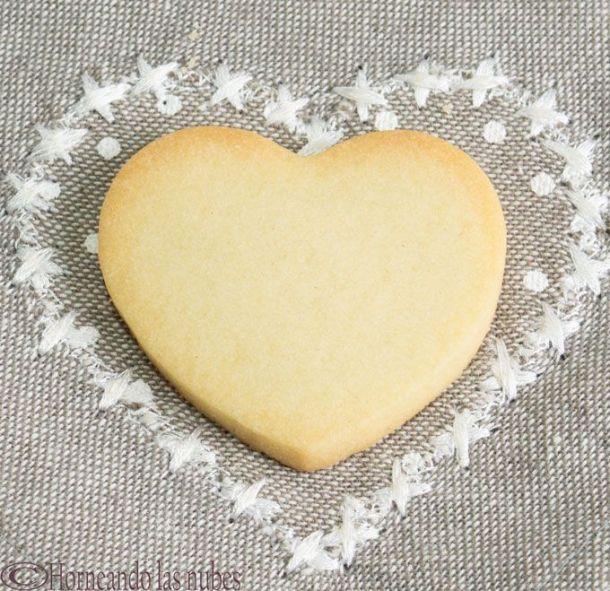 Corazón de galleta, de masa de galletas para decorar