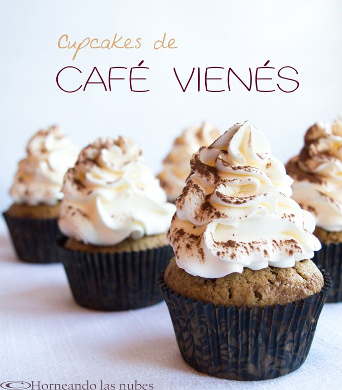 Cupcakes de café vienés