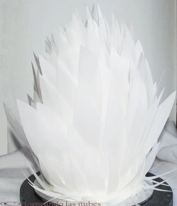 Tarta de boda blanca.