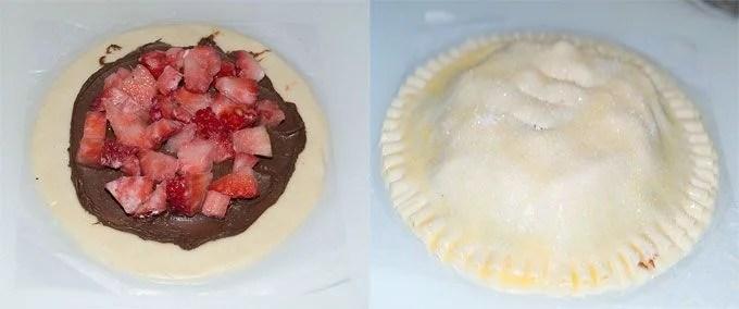Empanada de nutella y fresas