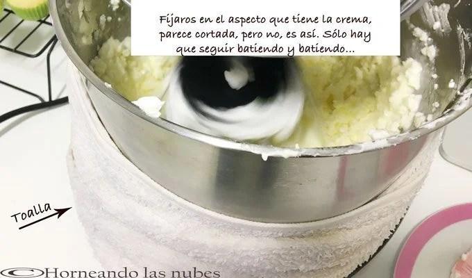cómo se va creando la crema
