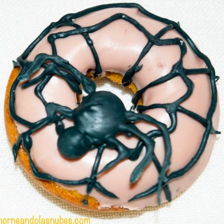 Minidonuts de calabaza para halloween