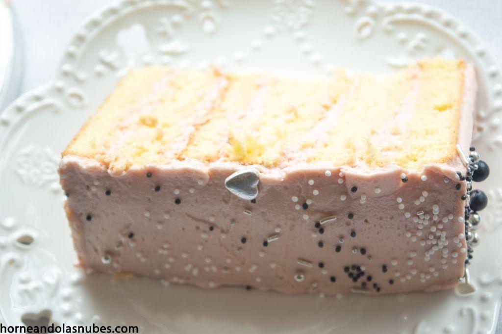 layer cake de princesas con sabor a kinder bueno.
