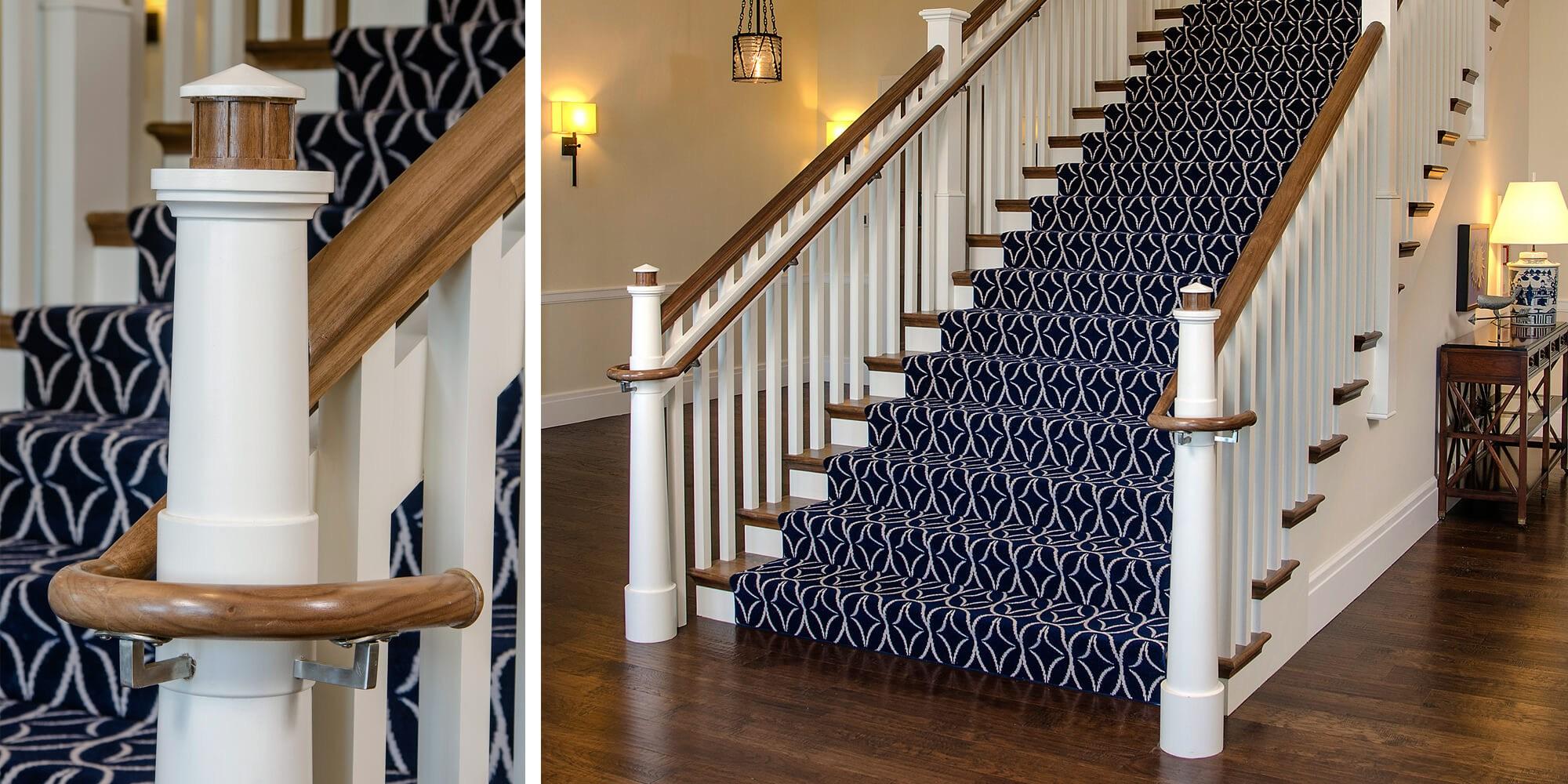 Custom Newel Post Roundup – Horner Millwork | Turned Newel Post Designs | Type | Spiral | Round | Wood Baluster | Black