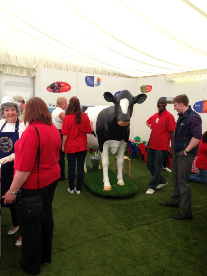Life Size 3D Model Milking Cow at Royal Highland Show