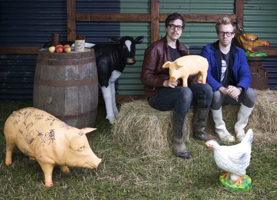 Hot Chip and Pig Models at Glastonbury Festival
