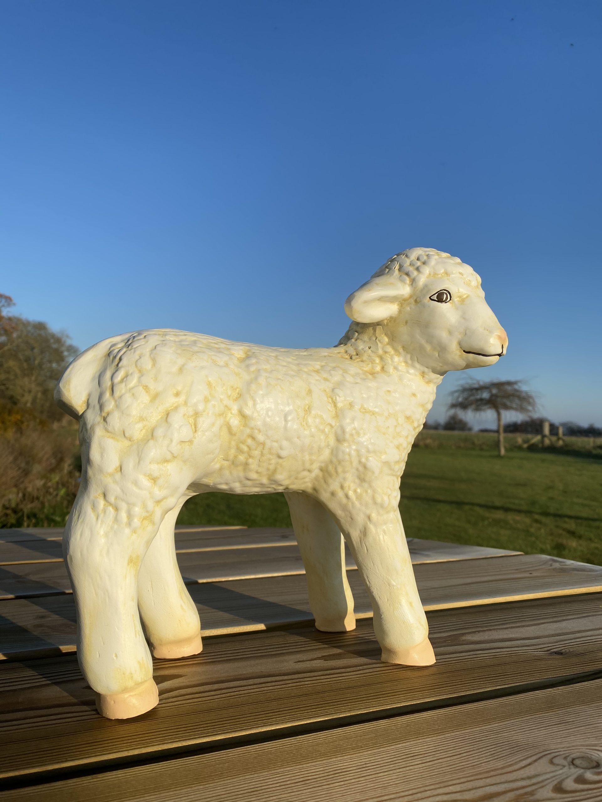 Standing Lamb Model Looking Ahead